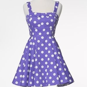 Purple polka dot vintage-style dress